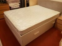 IKEA BRIMNES King Size Bed with storage + mattress and headboard