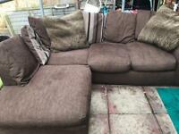 Fantastic compact fabric corner sofa
