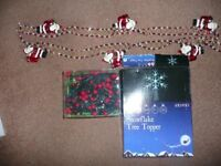 100 red indoor or outdoor Xmas lights tree top light 2 santa Decorations