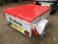 BRENDERUP 4-8 X 3-6 GOODS DROPTAIL TRAILER WITH COVER.....