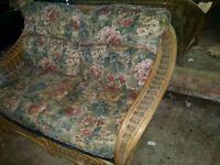3 piece conservatory cane furniture