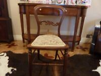 Small Victorian chair, height 33in 85cm refurbished and re upholstered