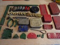 Meccano set with Instruction Book for No 4 Outfit dating from the 1950s