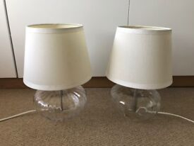 IKEA Glass Base Table Lamps