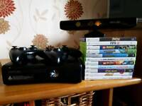X box 360 Kinect and 11 games