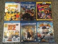 6 3D Blu-ray kids Films