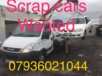 WANTED scrap , non running , damaged vehicles , Same day collection .