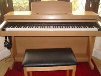 Roland HP103e Digital Piano in Light Beech Wood