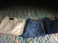 Two pair of Gant jeans one pair of Levi's all in immaculate condition owned by a fastidious person