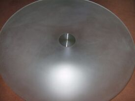 round top glass coffee table