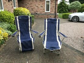 CAMPING CHAIRS RECLINING CHAIRS COMFORTABLE TO RELAX IN AND ENJOY THE SUMMER