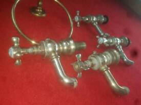 vintage bath and sink taps