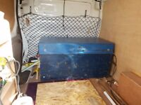 site strong box 4' x 2' x 2' with large wheeled skate to move around