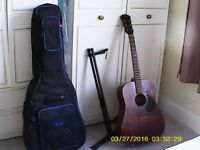 Freshman Guitar, Case and Stand.