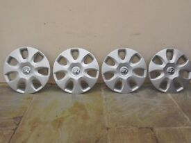 "4x Vauxhall 15"" wheel trims"