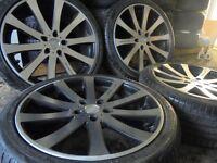 20inch LENZO 5x120 alloy wheels bmw x5 series x6 vw t5 transporter range rover