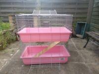 Rabbit Guinea pig indoor cage hutch 80cm*100cm 2 floor