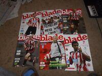 Six Sheffield United programmes. 2005 to 2007