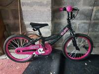 GIRLS ECLIPSE 18 INCH BIKE LIKE NEW