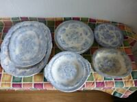 LARGE COLLECT (over 30 items) OF OLD CHINA BLUE&WHITE, BLACK&WHITE, RED&WHITE, GREEN&WHITE