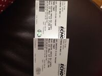 Take That tickets x2 Standing. Liverpool 22nd May £130