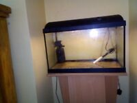 Aquarium ,pump heater light 24x14,14 plus unit ,,for sale 30pounds