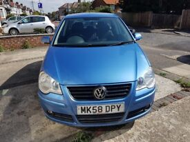 Volkswagen Polo 1.4 80 Match, Hatchback, 5 Doors 2008,Fully Automatic Blue, Only 38318 miles. £4495.