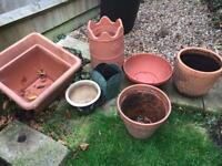 Beautiful garden pots