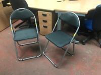 Folding Chairs x 2 Grey (Pair)