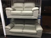 NEW/EX DISPLAY LEATHER VIXONS 3 +2 SEATER SOFAS, SUITE, SETTES 70% Off RRP