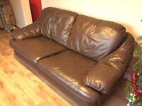 Brown Faux Sofa