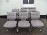 Set 6 six Matching Gordon Russell Dinning Office Meeting Waiting Room chairs