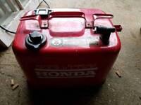Honda 13 litre boat fuel tank.
