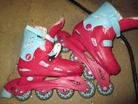Pink inline skates 13-3