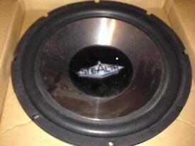 Stealth 12 inch subwoofer speaker NEW