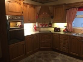 Kitchen units with solid chestnut doors