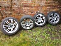 Bmw 17 m sport alloys 3 series with runflat tyres
