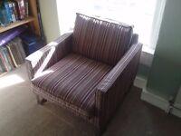 Colourful Striped Ikea Arm Chair