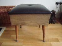 Vintage sewing box/stool on dansette legs £12 ono