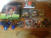 Sony PlayStation ps3 2 wireless controllers 10 games fully working order