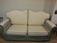 Comfortable and sturdy sofa and armchair