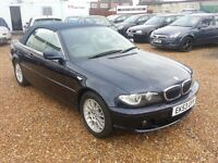 BMW 3 Series 2.2 320Ci 2dr, FULL LEATHER INTERIOR, FSH, HPI CLEAR, 2 FORMER KEEPERS, CONVERTIBLE