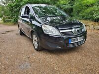 2009 Automatic Vauxhall Zafira Exclusive 1.9 CDTi Diesel 7 Seater