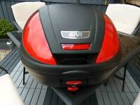 Givi 37 litre motorbike top box with mounting plate. As new.