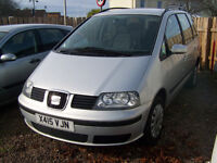 SEAT ALAHAMBRA SEVEN SEATER MOT,D OCT 2017 TRADE IN TO CLEAR £635 NO OFFERS FIXED PRICE