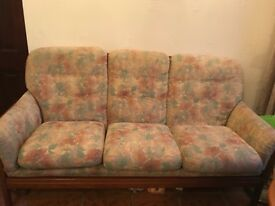 Sofa and matching arm chairs for sale