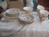 Burslepart tea set Pinky