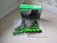 Evo Green Inline Skates - Size Junior 13J-3 - Unused - New and Boxed