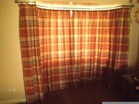 Next Ginger Rustic Curtains 228x229 cm