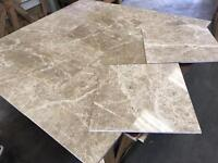 Emperador coffee polished marble tiles